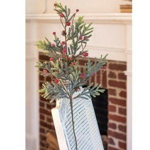 """Mountain Pine with Berries 29"""" Faux Spray"""